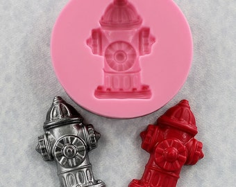 Fire Hydrant Mold Silicone Mould Fondant Resin Polymer Clay Chocolate Candy (338)