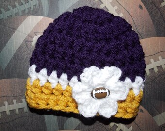 Minnesota Vikings inspired baby hat - sports props - made to order - team sports