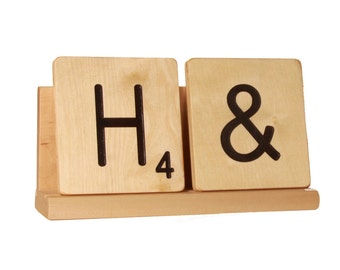 Scrabble Rack (for 2 large scrabble letter tiles)