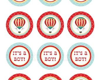 Hot Air Balloon Toppers/Favor Tags- Custom Printable