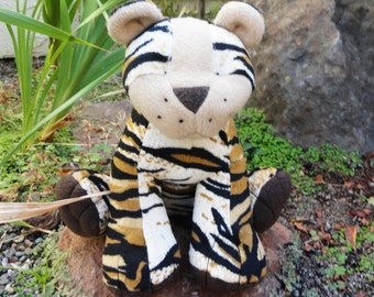 Stuffed Tiger or Liger Custom Made to Order  - You design - 10 prints to choose from