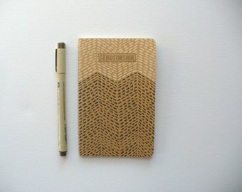 Back to school, Small journal, moleskine notebook, pocket notebook, small notebook, writing journal, hand painted journal, blank journal