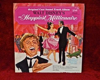WALT DISNEY'S - The Happiest Millionaire - 1967 Vintage Vinyl Gatefold Record Album...includes Book w/pictures From the Film