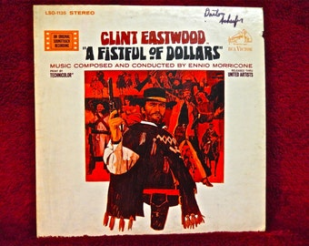 A FISTFUL of DOLLARS - Original Motion Picture Soundtrack - 1967 Vintage Vinyl Record Albium
