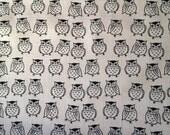 One yard Japanese kimono cotton fabric owl printed