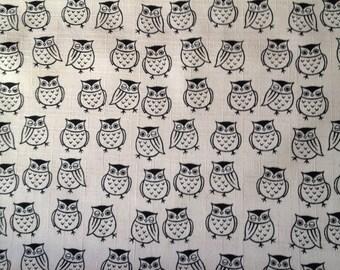 Half yard Japanese kimono cotton fabric owl printed