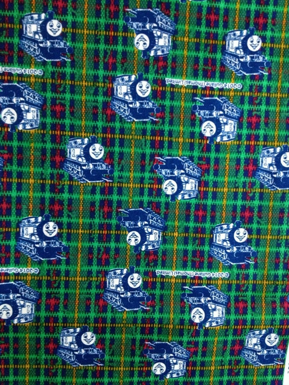 Thomas the train fabric half yard green colour 2014 new summer for Train fabric by the yard