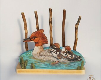Merganser  Desk Organizer or Mini Book Rack