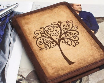iPad & iPad Mini Leather Cover - Tree of Life - Customizable - Free Personalization