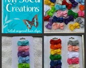 Mini Bows/Itty Bitty Bows - Alligator Clips or Baby Snap Clips - You Choose Clip Style and Colors