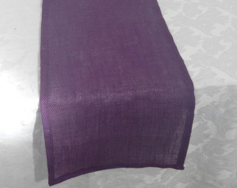 Purple Burlap Table Runner, Choose Your Size, Custom Sizes Available, Party, Shower, Wedding, Home Decor