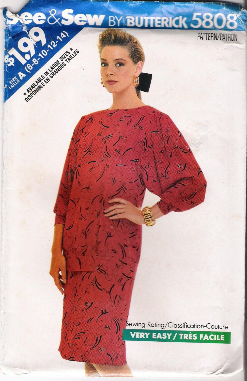 butterick 5808 skirt patterns blouse pattern womens by