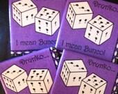 Bunco Ceramic Tile Coasters