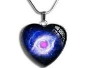 Helix Nebula Pendant, Helix Nebula Necklace,Galaxy Necklace, Universe Necklace, Space Necklace, Rose Planet Necklace, Heart Space Necklace