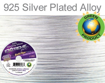 Soft Flex extreme Flex wire 19 Strand 0.014 Inch 30ft length silver color - 1spool (5584)