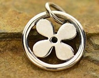 Sterling Silver 13.5x10.5mm Open Clover Charm  - 1pc (5940) 10% discounted High Quality Shiny Charms