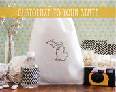 Custom State Wedding Favor - Home State Wedding Welcome Bags - State Out of Town Guest Bags