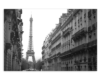 Paris Wall Art, Eiffel Tower Decor, Paris photos, Paris home decor, Paris street, French decor - Fine Art Photograph B&W