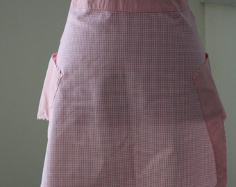 Pink and White Gingham Apron