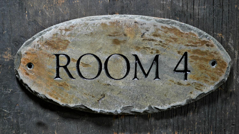 🔎zoom & CUSTOM Carved DOOR SIGN / Stone /Slate / Plaque / Label / Pezcame.Com