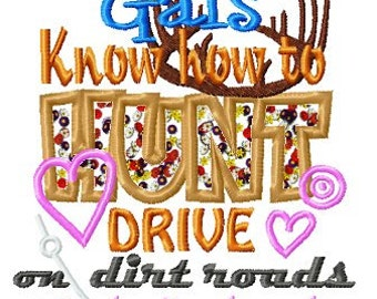 Instant Download Country Gals Applique Machine Embroidery File - Handmade embroidery design - Machine Embroidery Design - Digital Design