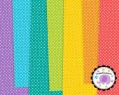 Tiny Polka Dot Digital Paper, Polka Dot Digital Scrapbook Paper, Dotty Digital Background, Instant Download, Commercial Use