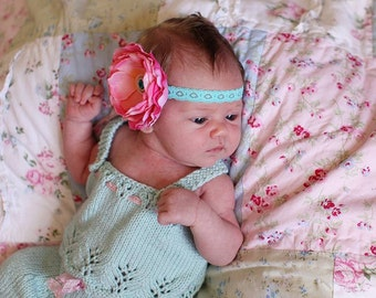 Gracie Newborn Tank Top PATTERN for Baby Gift, Baby Girls, Lace Knit for Baby, Summer Knits, Baby Top, Newborn, 3 months, 6 months