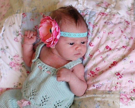 Gracie Newborn Tank Top PATTERN for Baby Gift, Baby Girls, Lace Knit for Baby, Summer Knits, Baby Top