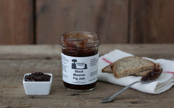 Gourmet Black Mission Fig Jam 8 oz Organic Figs Delicious