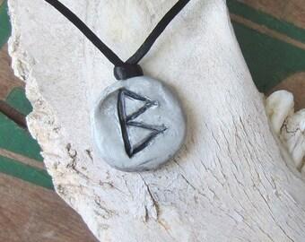 rune pendant BERKANA runes necklace elder futhark wicca wiccan jewelry pagan witchcraft viking runes occult magick