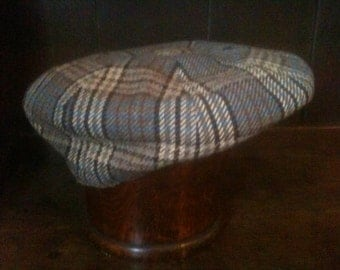 Vintage English Plaid Cap Hat Size 54 circa 1960's / English Shop