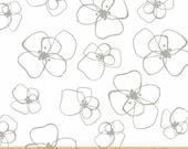 Mormor Mist Little Blomster on White by Lotta Jansdotter for Windham Fabrics