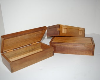 Small dovetailed wooden box