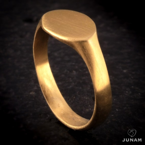 Sale Special fer Gold Plated 18k Pinky RING Signet for Men Women Modern Des