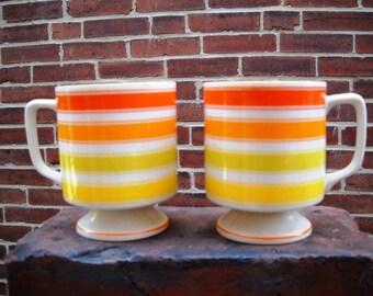 Two Great Sunny Retro Coffee Mugs