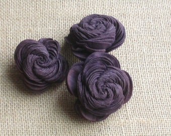 Sola Shell flowers  -- SET of 12 -- Dark Purple