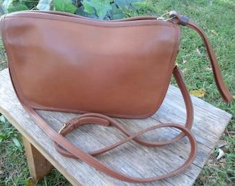 Vintage, Leather, Coach, Purse, Handbag, Clutch, Crossbody, Made in USA, Beautiful Bag, 1990's