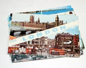 10 Vintage London England Chrome Used Postcards