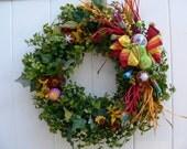 Birthday Wreath-Celebration Wreath-Tropical Decoration-Fiesta Wreath-Classroom Decoration-Mexican Wreath-Birthday Decoration-