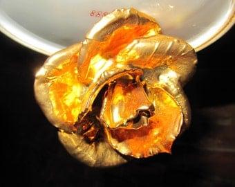 Vintage Gold Rose
