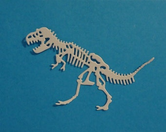 4 Dinosaur Skeleton Die Cuts Awesome Embellishment for Scrapbooking Cards and Paper Crafts