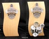 Magnetic Bottle Opener - Custom Engraved Stainless Steel or Black - Free Personalization!
