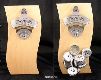 Magnetic Bottle Opener Barware Set - Personalized Bottle Opener - Beer Opener - Custom Bottle Opener, Groomsmen Gifts, Groomsman Gift