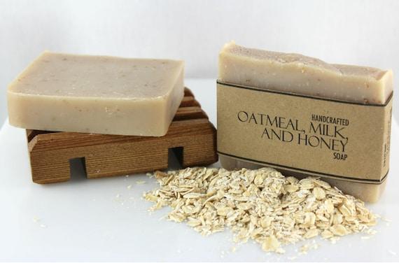 Oatmeal, Milk and Honey Soap, Handmade, Cold Process Soap
