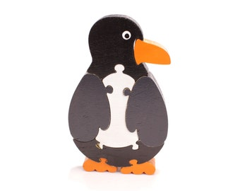 Eco Friendly Children's Wood Penguin Puzzle - Waldorf Toy