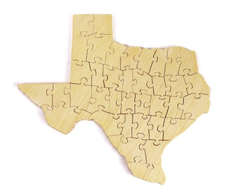 Texas Wood Puzzle - Educational Toy