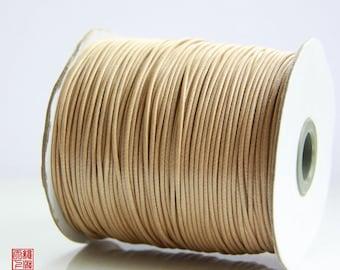 7M 1.5mm Light Coffee Brown Korea Wax Cord
