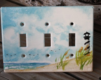 Triple switch plate Cape Hatteras Lighthouse
