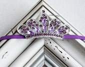 Purple Tiara Headband Baby Headband Baby Tiara Princess Headband Photo Prop Birthday Crown Newborn Child Girls Headband HB011LX