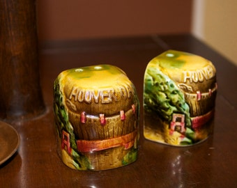 Hoover Dam Rare Collectible Salt and Pepper Shakers by SNCO San Francisco Made in Japan